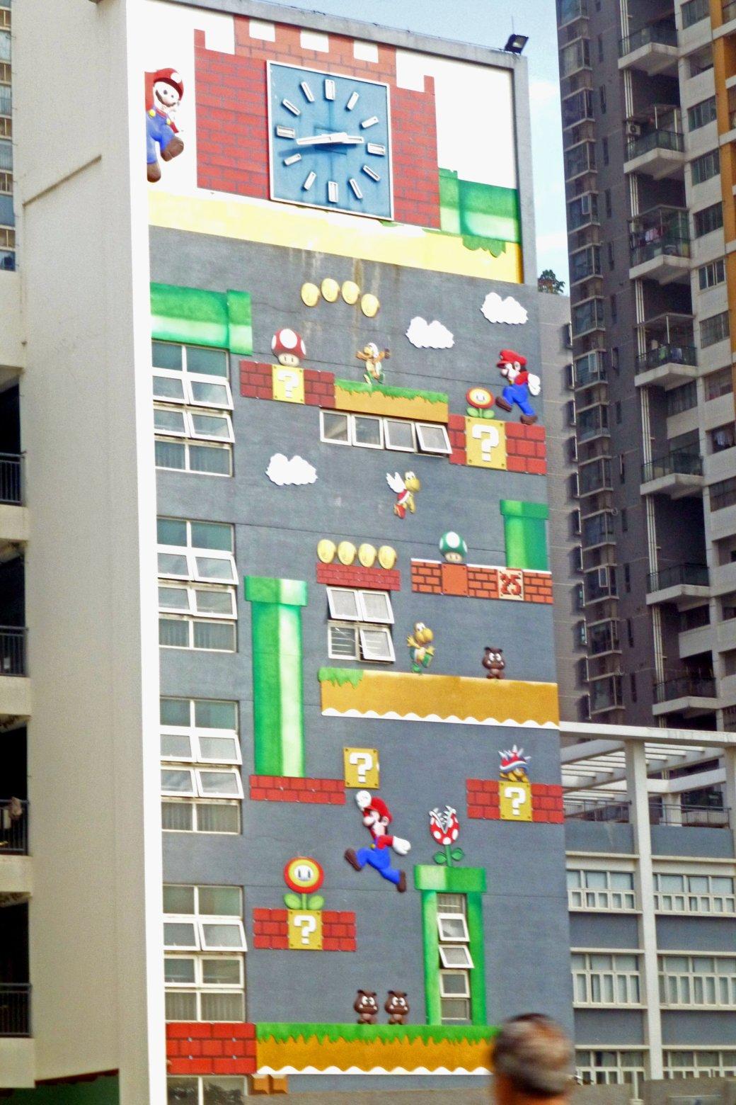 Стену китайской школы разукрасили в стиле Марио - Изображение 1