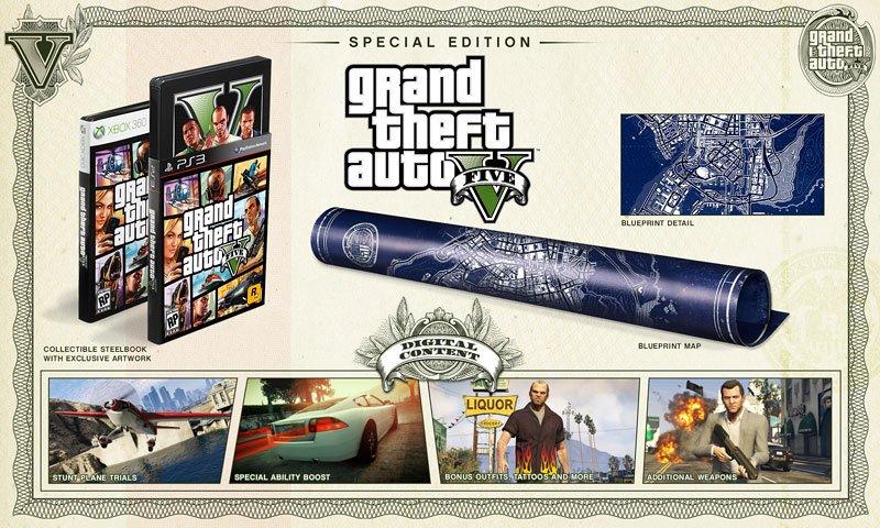 Анонсированы коллекционное и специальное издания игры GTA V - Изображение 1
