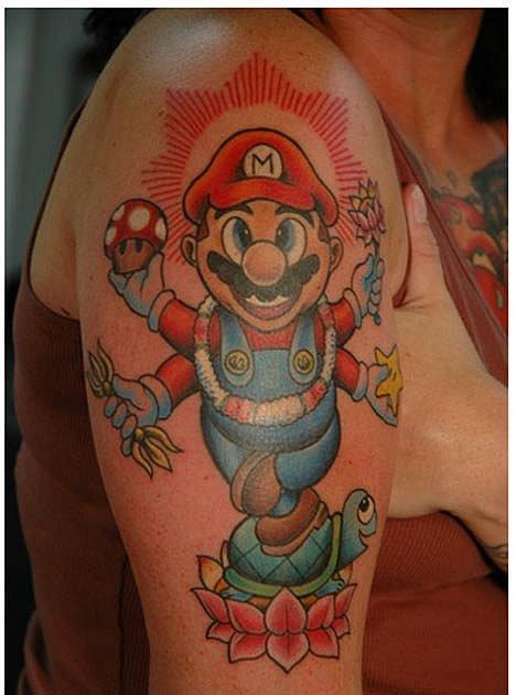 Татуировки фанатов видеоигр. - Изображение 16