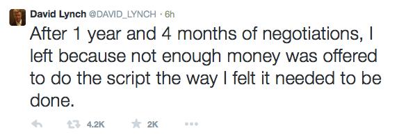 Дэвид Линч не будет снимать продолжение сериала «Твин Пикс» - Изображение 2