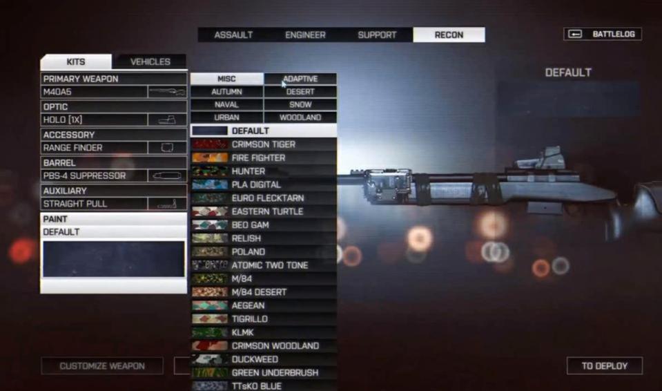 Камуфляж оружия в Battlefield 4. - Изображение 9