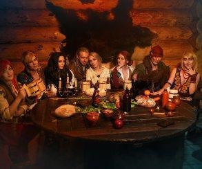 Грандиозная попойка Геральта, Трисс, Йеннифэр и других героев «Ведьмака» в невероятном косплей-видео