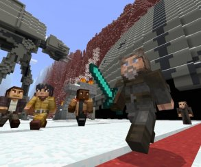 Чуи, мыдома? ВMinecraft появились скины героев новой трилогии «Звездных войн»