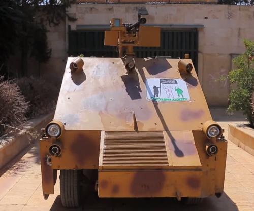Сирийские повстанцы собрали броневик с геймпадом