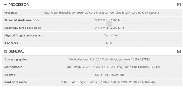 32-ядерный монстр AMD Ryzen Threadripper 2990X засветился в3DMark. Цена соответствующая. - Изображение 2