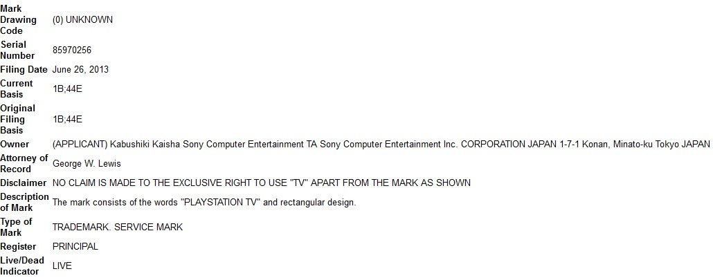 Sony зарегистрировала PlayStation TV | Канобу - Изображение 11324